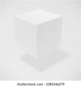 drawing style cube- rendered 3d image