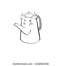Drawing of a toy teapot