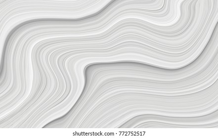 Drawing of a wave of white and gray color. Background with stains and curved lines.