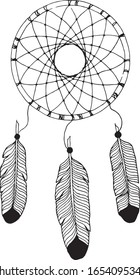 Dream cather illustration in black and white