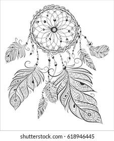dream cather.Ethnic decorative elements.