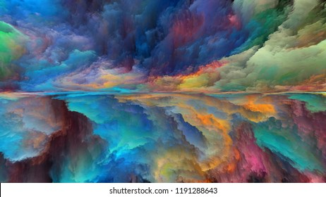 Dream Land series. Abstract arrangement of digital colors suitable for projects on Universe, Nature, landscape painting, creativity and imagination