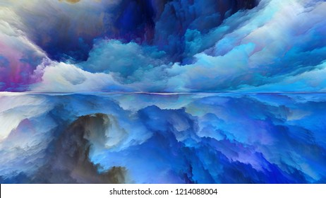 Dream Land series. Composition of digital colors on the subject of Universe, Nature, landscape painting, creativity and imagination