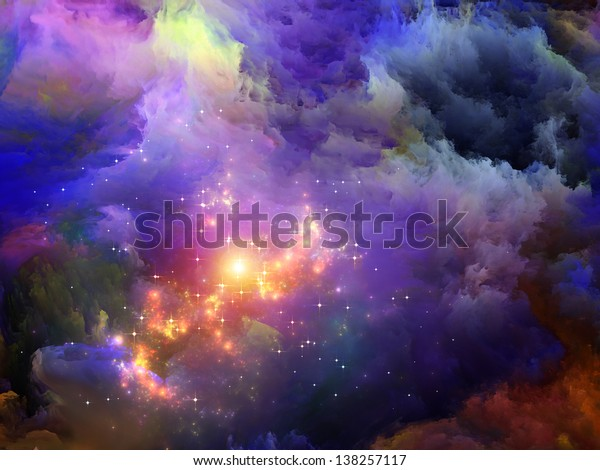 Dreamscape Series. Abstract design made of colorful fractal paint and lights on the subject of art, abstraction and creativity