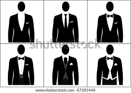 Dress Code Men Stock Illustration 87285448 Shutterstock