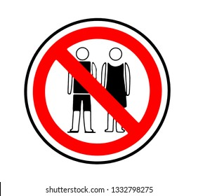 Dress code sign. Wear respectful clothes in this place