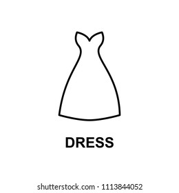 dress with decolletage icon. Element of summer clothes for mobile concept and web apps. Detailed dress with decolletage icon can be used for web and mobile. Premium icon on white background