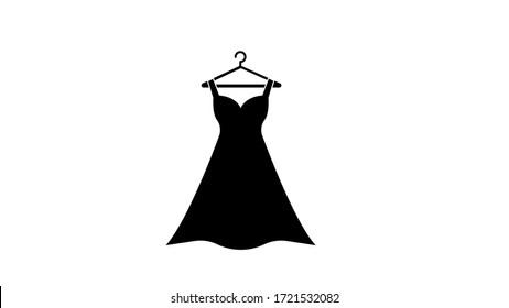 Dress icon design, Cloth fashion style wear shop