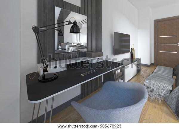 Dressing Table Chair Modern Bedroom Workspace ...