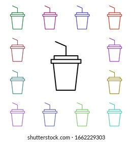 Drink, soda multi color style icon. Simple thin line, outline of food and drink icons for ui and ux, website or mobile application