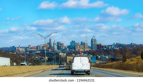 Drive to Cincinnati on freeway art poster paint urban exploration photography  art