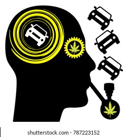 Driver stoned on cannabis tests his driving skills