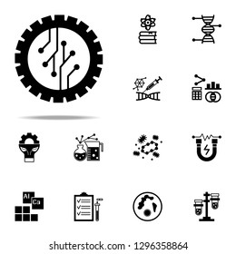 droid, electronic icon. Genetics and bioenginnering icons universal set for web and mobile