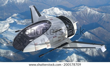 Royalty Free Stock Illustration Of Drone Design Alien Spacecraft