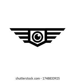 Drone graphic design, with a simple and clean form.