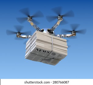 Drone with newspapers. Used images from my portfolio: http://www.shutterstock.com/pic-60822643/stock-photo-glassy-chart.html http://www.shutterstock.com/pic-7960903/stock-photo-around-the-world.html