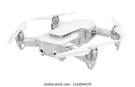 Drone Quadcopter Isolated. 3D rendering