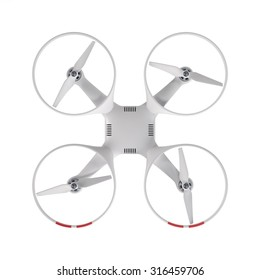 drone top view isolated on white background