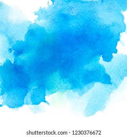 drop brushed shades blue watercolor background.