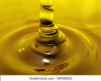 Drop of sweet slowly drains into the tank full of sweet