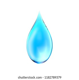 Drop with white background, 3d illustration
