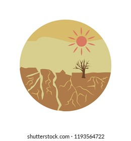 drought disaster color icon. Element of global warming illustration. Signs and symbols collection icon for websites, web design, mobile app on white background on white background