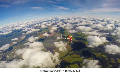 Drug. Extreme depends on the speed. Adrenaline. Skydiver in free fall.