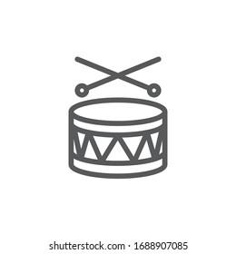 Drum Line Icon on white background.