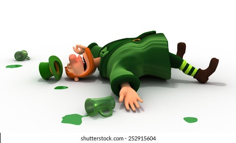 Drunk leprechaun and green drops
