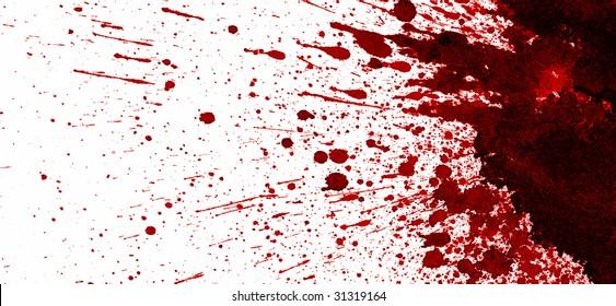 Dry blood splatter