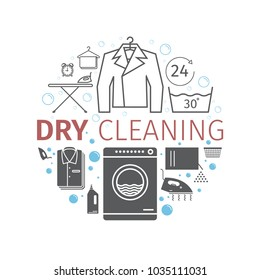 Dry cleaning services. Banner.