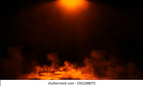 Dry ice smoke clouds fog floor texture.Perfect fire spotlight mist effect on isolated  background..
