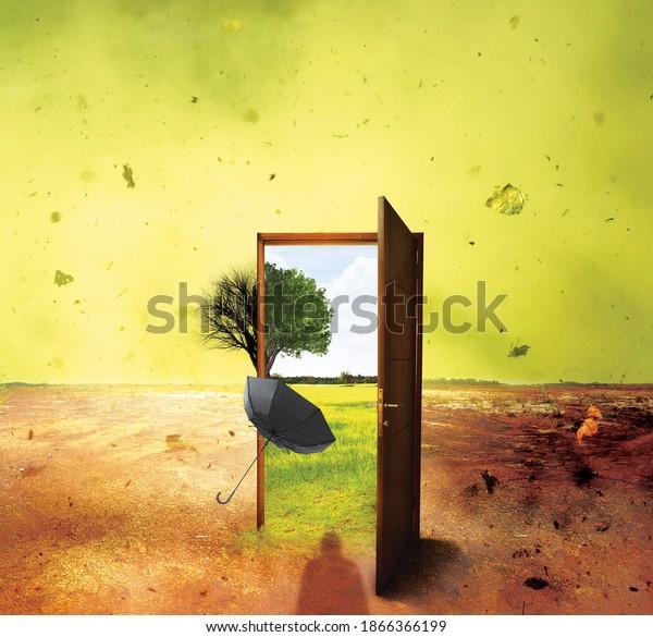 dry-land-opening-door-green-600w-1866366