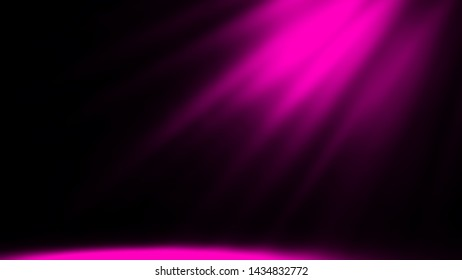 Dry purple ice smoke clouds fog the floor texture.Perfect spotlight mist effect on isolated background.