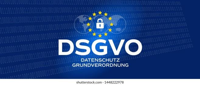 DSGVO / Datenschutz-Grundverordnung : GDPR / General Data Protection Regulation in german language