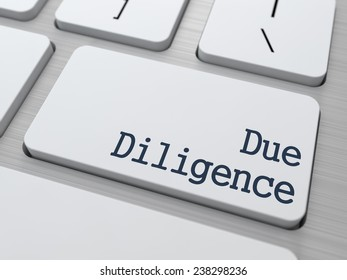 Due Diligence on White Keyboard Button on Computer Keyboard.