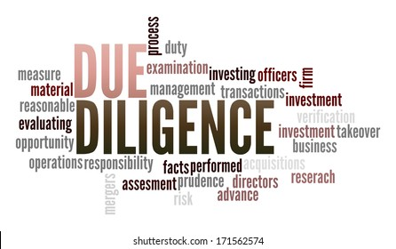 Due Diligence in word collage