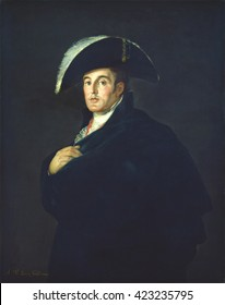 The Duke of Wellington, by Francisco de Goya studio, 1812, Spanish painting, oil on canvas. When this portrait was made, he was the commander in chief of the Anglo-Portuguese Army during the Peninsul