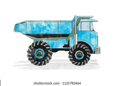 dump truck, Under construction concept