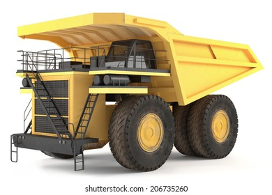 Dumper industrial isolated.