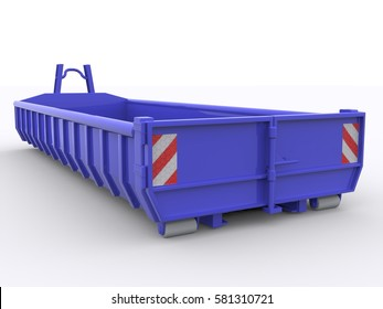 Dumpster Container 3d rendering