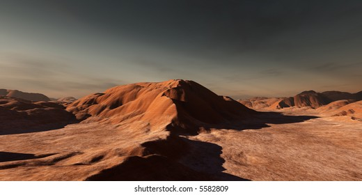 dune-like rock formations in a desert