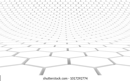 Duotone hexagon 3D background texture. 3d rendering illustration. Futuristic abstract background.