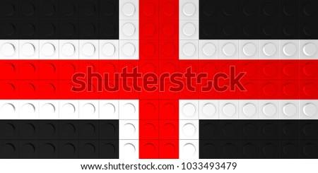 Durham City Flag Made Generic Plastic Stock Illustration 1033493479