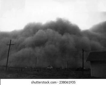 A dust storm in Hugoton Kansas 1936
