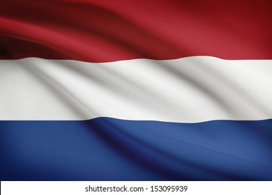 Dutch flag blowing in the wind. Part of a series.