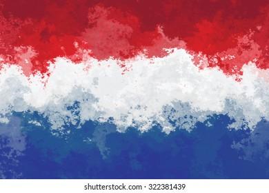 Dutch flag - grunge design pattern
