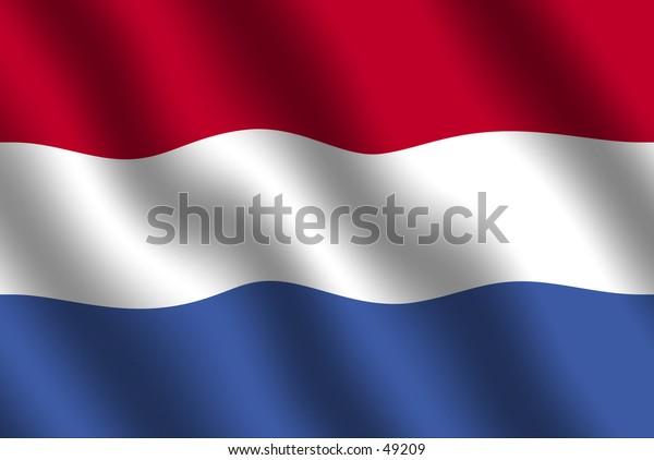 Dutch flag with waving effect