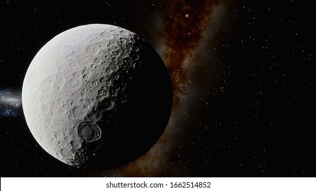 dwarf planet Ceres in the solar system 3d render