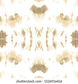 Dye Faded Fabric. Nude Watercolor Silk. Soybean Texture. Ikat Wallpaper. Ecru Background. Bleached Tie Dye. Cream Shibori Pattern. Seamless Geo Ethnic Art. Desert Sands Geo Tile.